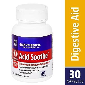 Amazon.com: Enzymedica – Ácido Soothe, 98121, 30, 1, 1 ...
