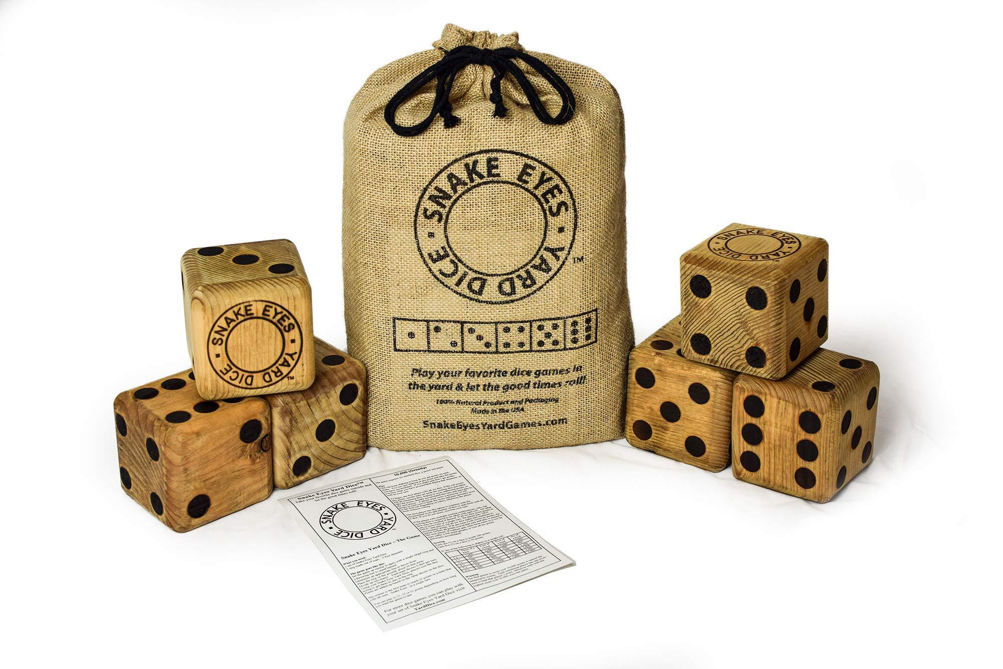 Snake Eyes Yard Dice - The Original Yard Dice - Made in USA Free Priority Shipping