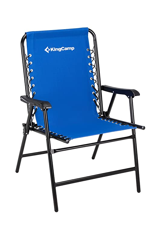 amazoncom kingcamp sports suspension backrest portable folding chair blue weight capacity 265 lbs 99 lbs garden u0026 outdoor