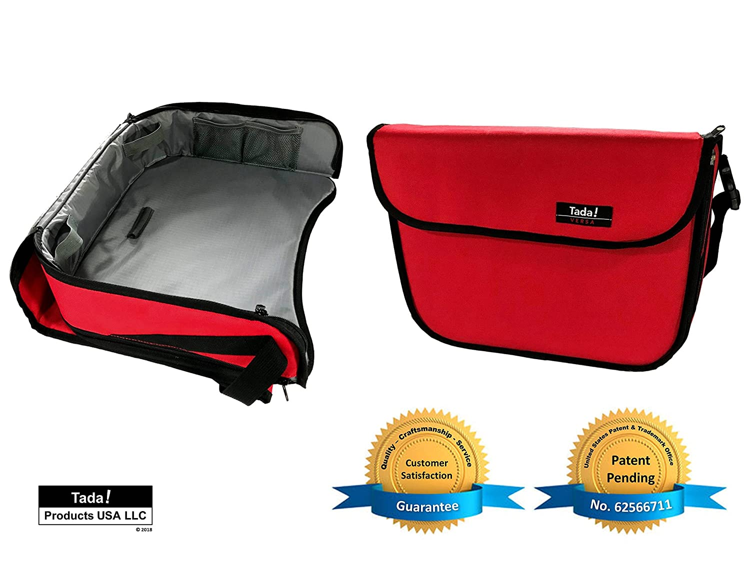 Kids Car Seat Tray - Convertible From Tray to Bag - Child / Toddler / Baby Car Seat Activity Play & Snack Tray - Car Organizer / Diaper Bag / Lap Tray - NEW VERSA From Tada Products Tada Products USA