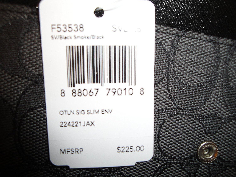 low priced 7ed6c f413f Coach Signature Slim Envelope Wallet F53538 SVDK6: Amazon.ca ...