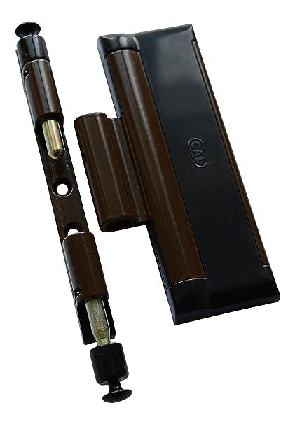 CAL DOUBLEX XL schwarz und Fenstersicherung,Einbruchschutz,Fensterschloss Tür
