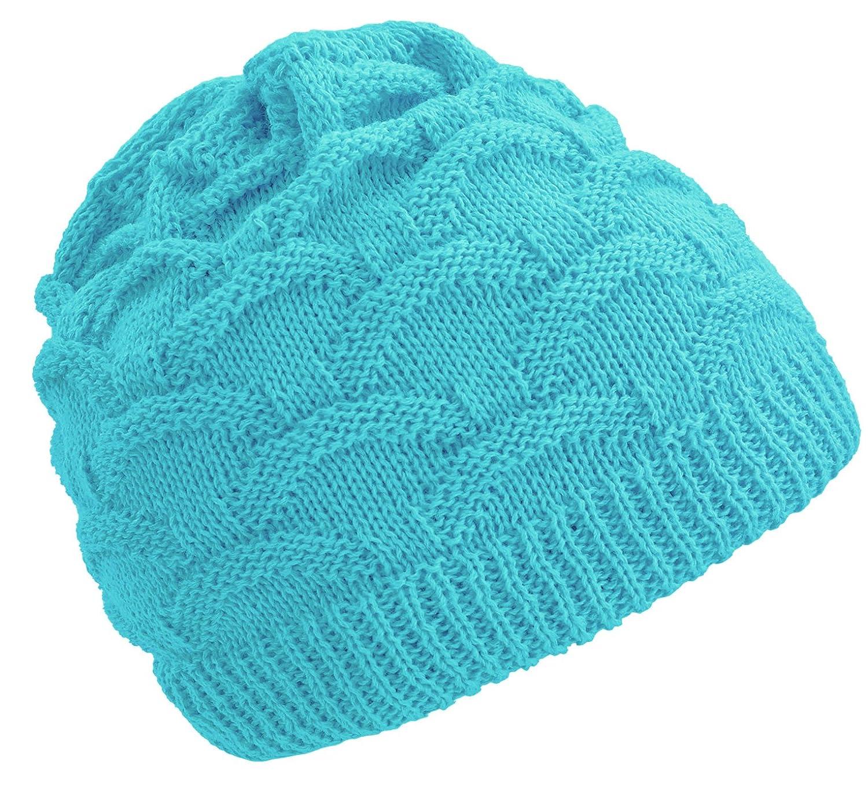 4sold Unisex Fala Girls Winter Hat Wool Knitted Beanie Fleece Cap Ski Snowboard Hats Chunky Knit Beany Kids) Fala Kids