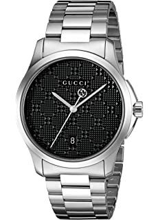 Gucci Swiss Quartz Stainless Steel Dress Silver-Toned Mens Watch(Model: YA126460)