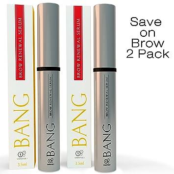 Amazon.com: BANG Eyebrow Growth Serum w/ Organic Argan Oil, Castor ...