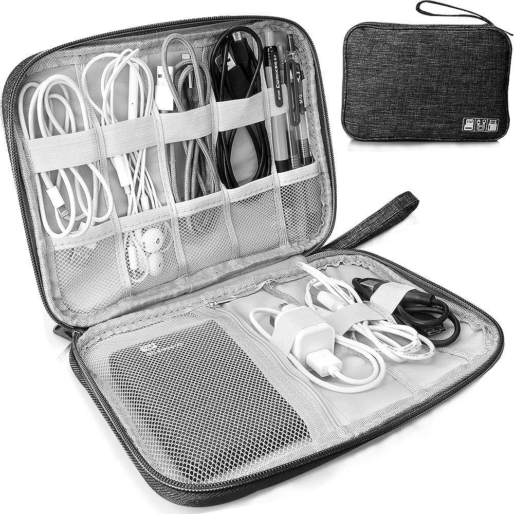 HCFGS Electronics Travel Cable Organizer Bag