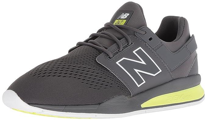 New Balance Herren Magnet Grau/Solar Gelb 247 Sport Sneakers-UK 6 ...