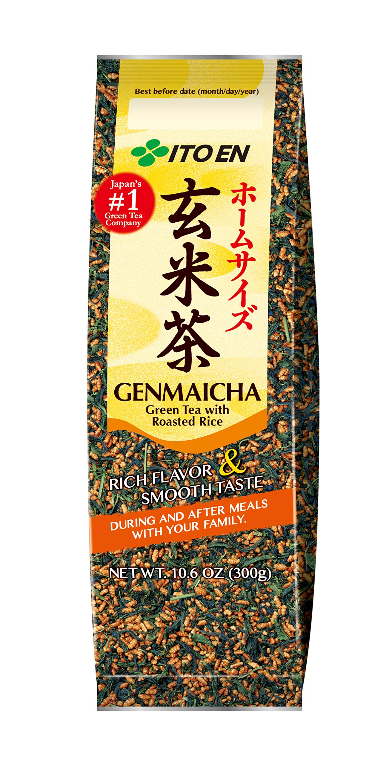 Ito-En Tea, Genmai-Cha, 10.6-Ounce Packages (Pack of 4)