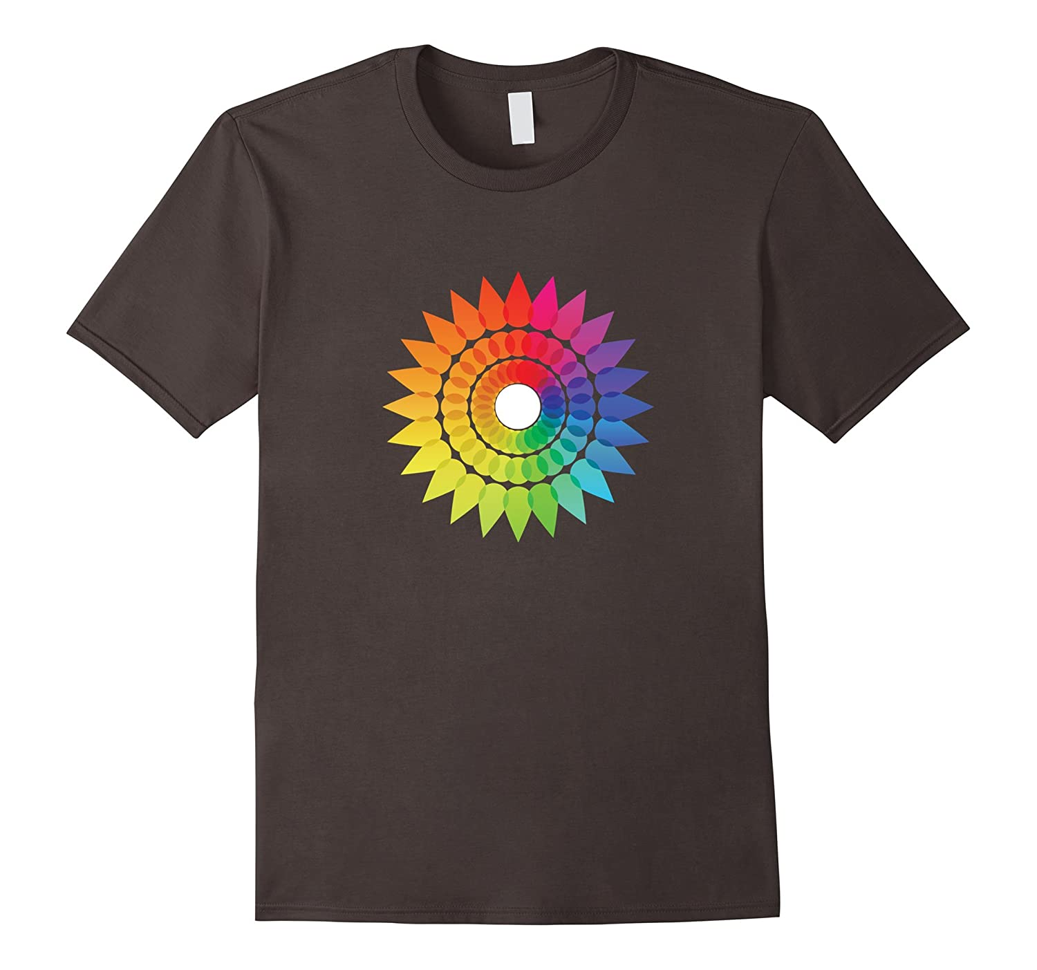 Spiky Pride Rainbow Flower Relaxed Fit T-Shirt-BN