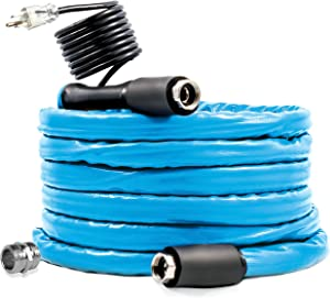 """Camco 50ft Cold Weather Heated Drinking Water Hose Can Withstand Temperatures Down to -40°F/C - Lead and BPA Free, Reinforced for Maximum Kink Resistance 5/8"""" Inner Diameter (22925)"""