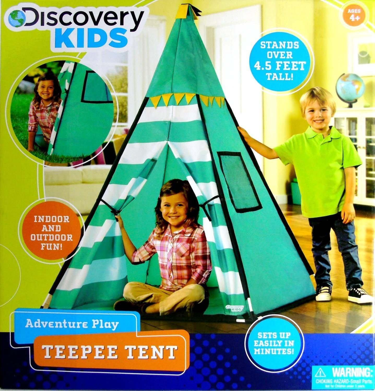 sc 1 st  Amazon.com & Amazon.com: Discovery Kids Green Adventure Teepee Tent: Toys u0026 Games