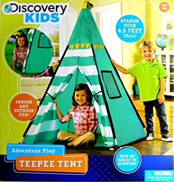 Discovery Kids Green Adventure Teepee Tent  sc 1 st  Amazon.com & Amazon.com: Discovery Kids Green Adventure Teepee Tent: Toys u0026 Games