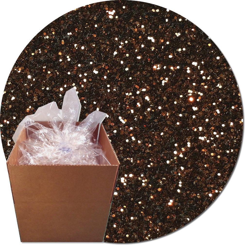 Glitter My World! Craft Glitter: 25lb Box: Bronze Blitz