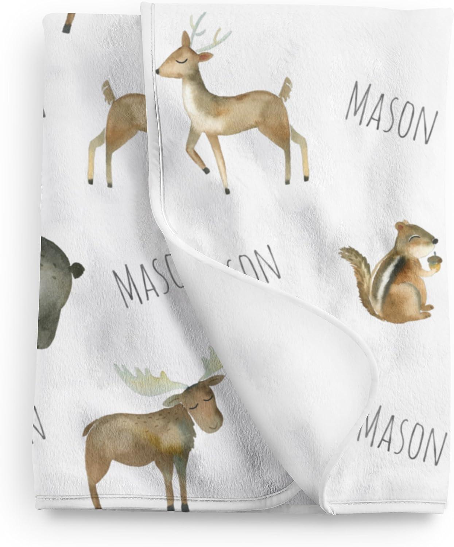 Baby Name Blanket Personalized Baby Blanket Fleece Blanket Baby Gift Baby Bear Bedding Woodland Baby Blanket Custom Baby Blanket