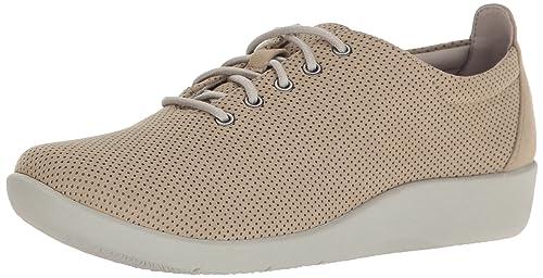 b589160b CLARKS Tino Oxford Sillian para Mujer, Color Morado y Gris Nobuck  sintético, 5,5 m EE.UU, Color Dorado, Talla 37.5: Amazon.es: Zapatos y  complementos