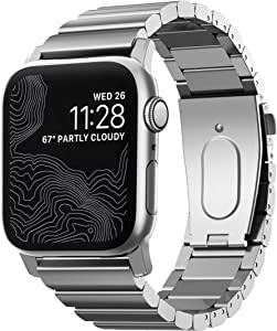 Nomad Silver Steel Band for Apple Watch 44mm/42mm   Silver Hardware