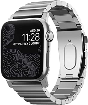 Nomad Silver Steel Band for Apple Watch 44mm/42mm