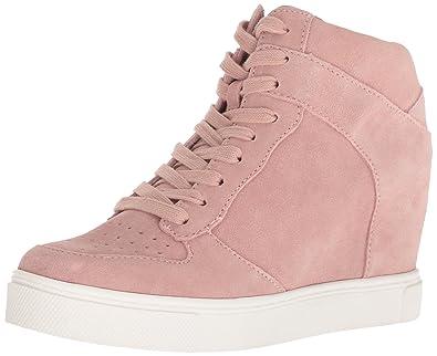 84bb9d8a02d Steve Madden Women s NOAH Sneaker Pink Suede 8.5 ...