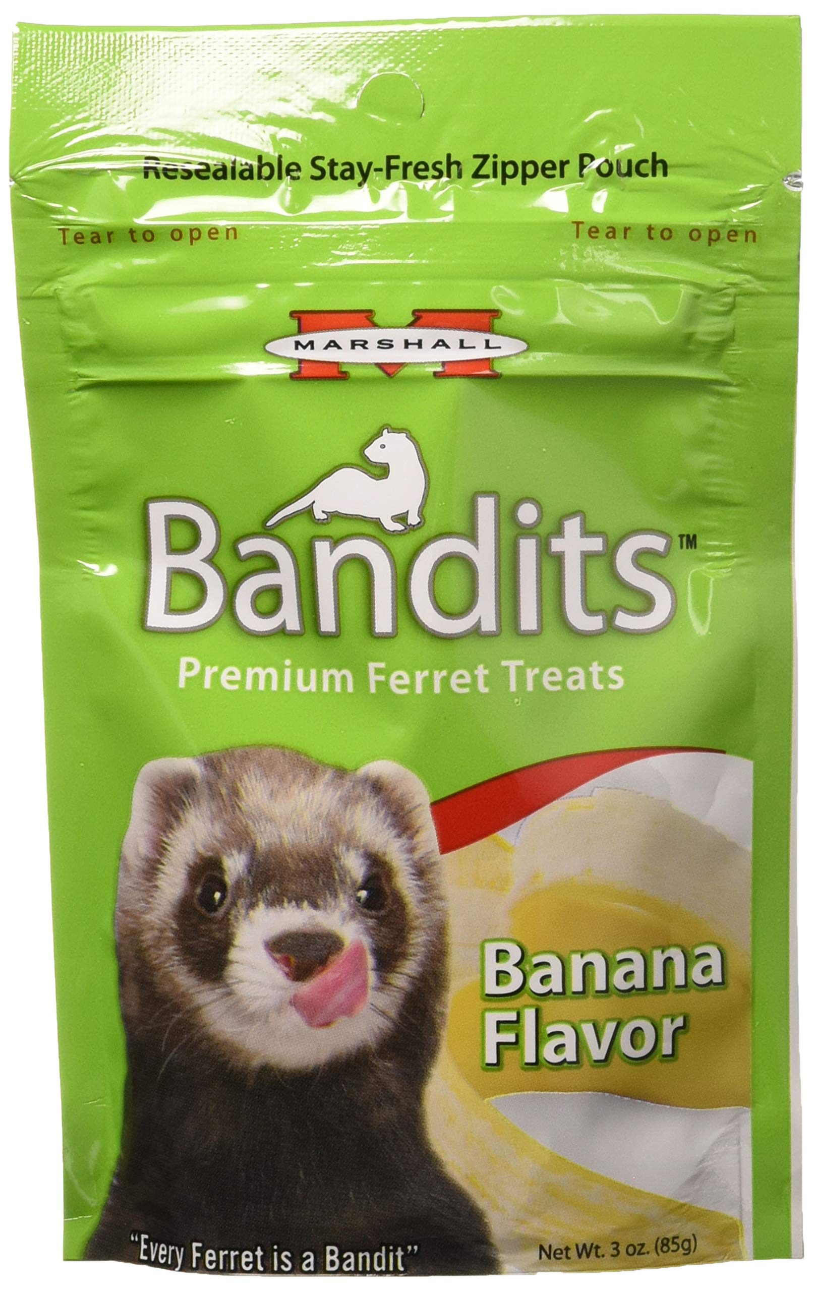 Marshall Bandits Ferret Treat Banana 1.875lbs (10 x 3oz)