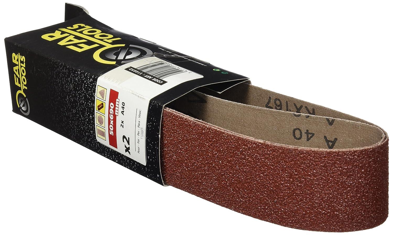 Fartools 110852 Bandes Abrasives 50x690mm pour Touret