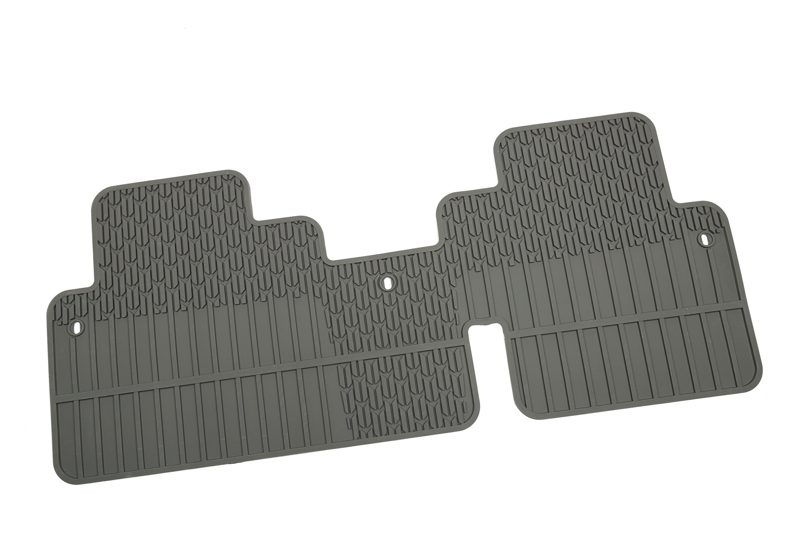 General Motors GM Accessories 22890404 Second Row 1-Piece All-Weather Floor Mat in Titanium with Deep Rib