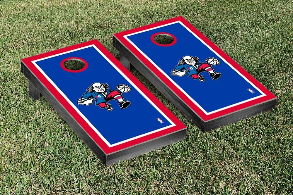 Philadelphia Sixers 76ers NBA Basketball Cornhole Game Set Border Version by Victory Tailgate