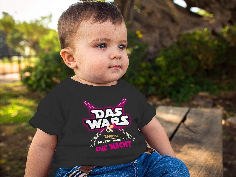 MoonWorks/® Baby T-Shirt Kurzarm Babyshirt Das Wars ab jetzt Habe ich die Macht Jungen M/ädchen Shirt