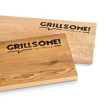 4 tablas XL para ahumar hechas de madera de cedro canadiense (40 x 15 x 1,5 cm): Amazon.es: Hogar