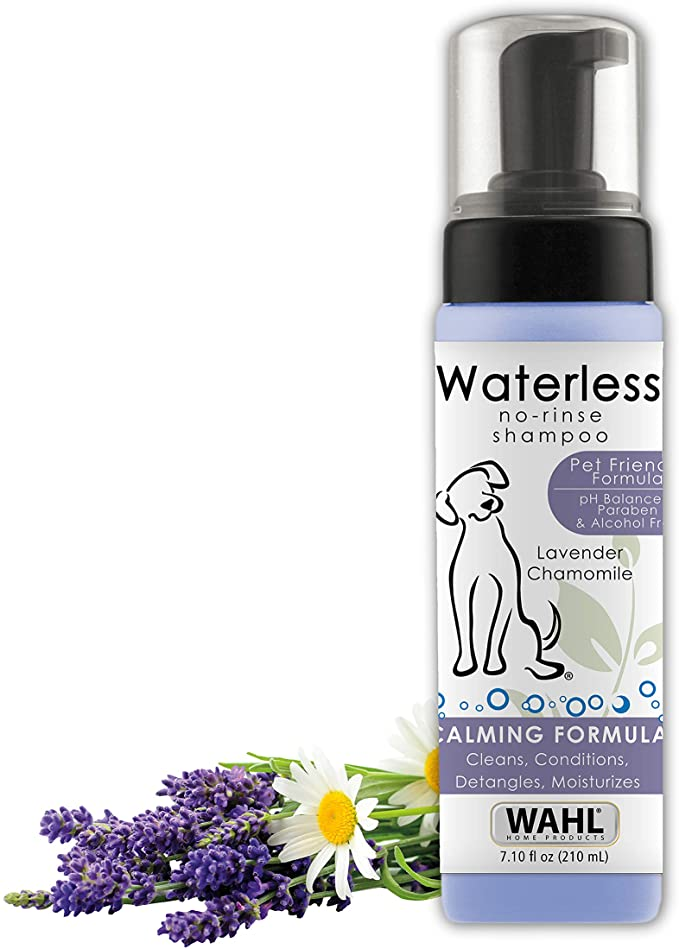 Wahl Pet-Friendly Waterless No Rinse Shampoo - Best Dry Shampoo for Dogs