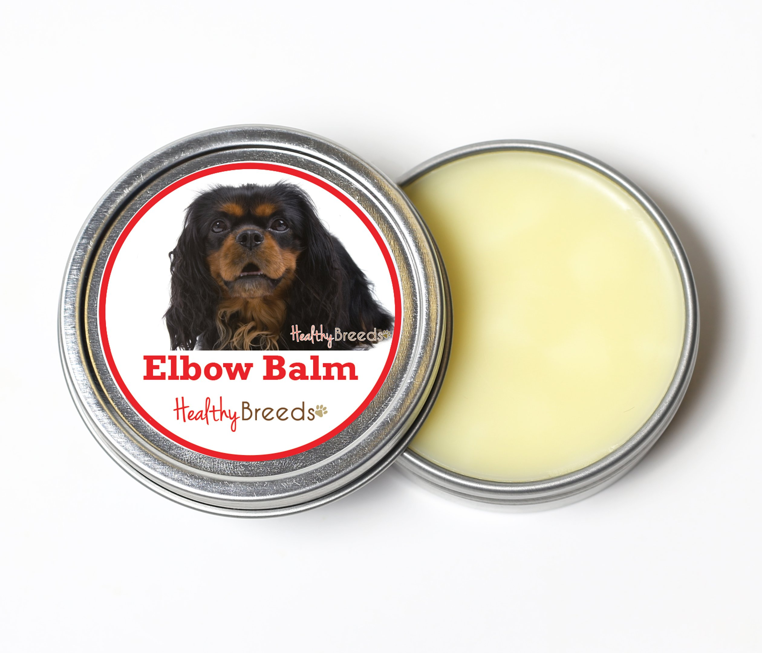 Healthy Breeds Dog Elbow Protector Balm for English Toy Spaniel - Over 200 Breeds - All Natural & Organic Oils Heal Dry Cracked & Chapped Skin - Unscented Formula - 2 oz Tin
