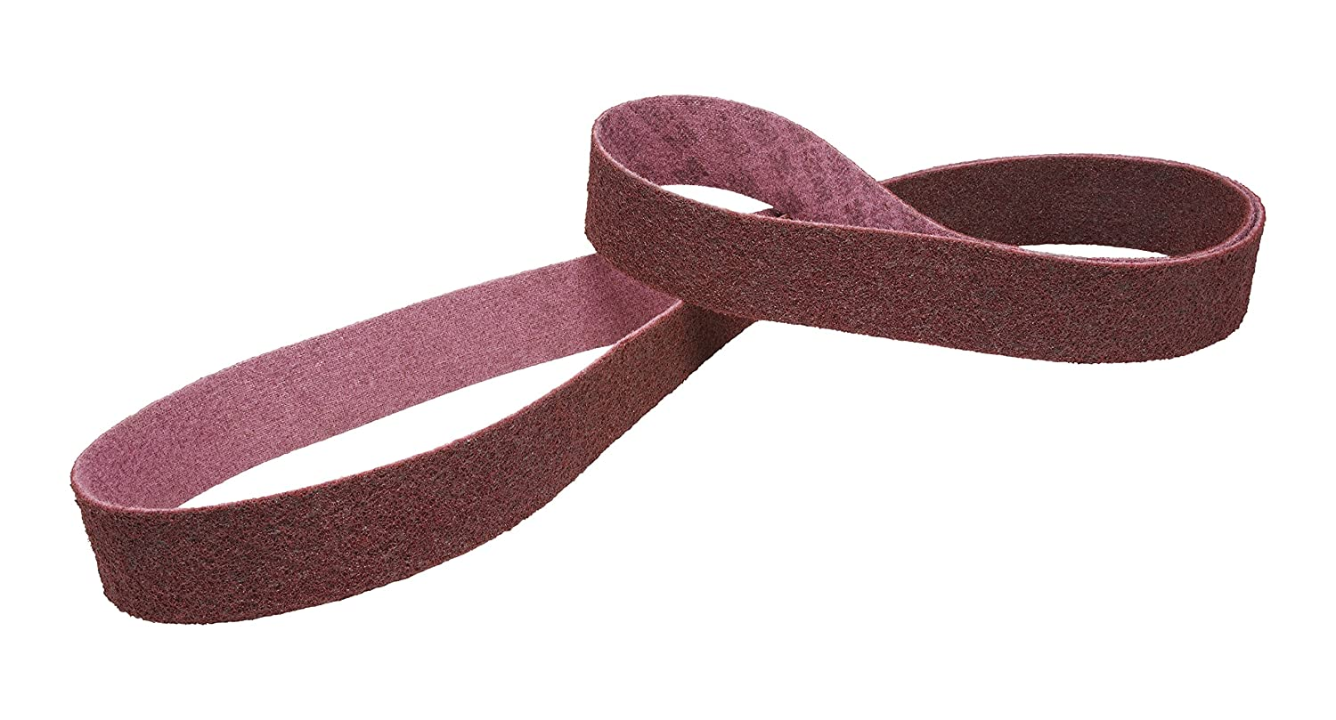 1//2 in x 24 in A MED 3M 50048011096167 Pack of 20 Scotch-Brite Surface Conditioning Low Stretch Belt 20 Belts