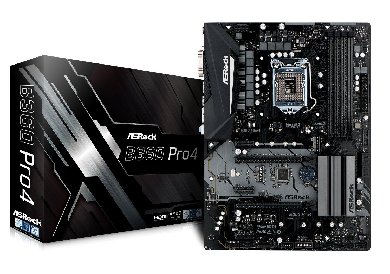 ASRock B360 PRO4 LGA1151/Intel B360/DDR4/Quad CrossFireX/SATA3&USB3.1/M.2/GbE/ATX Motherboard