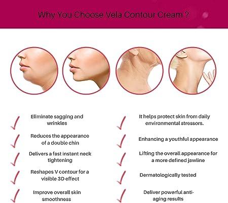 Crema de doble barbilla reductora de cuello reafirmante para dar forma a la cara Vela Contour – 30 ml