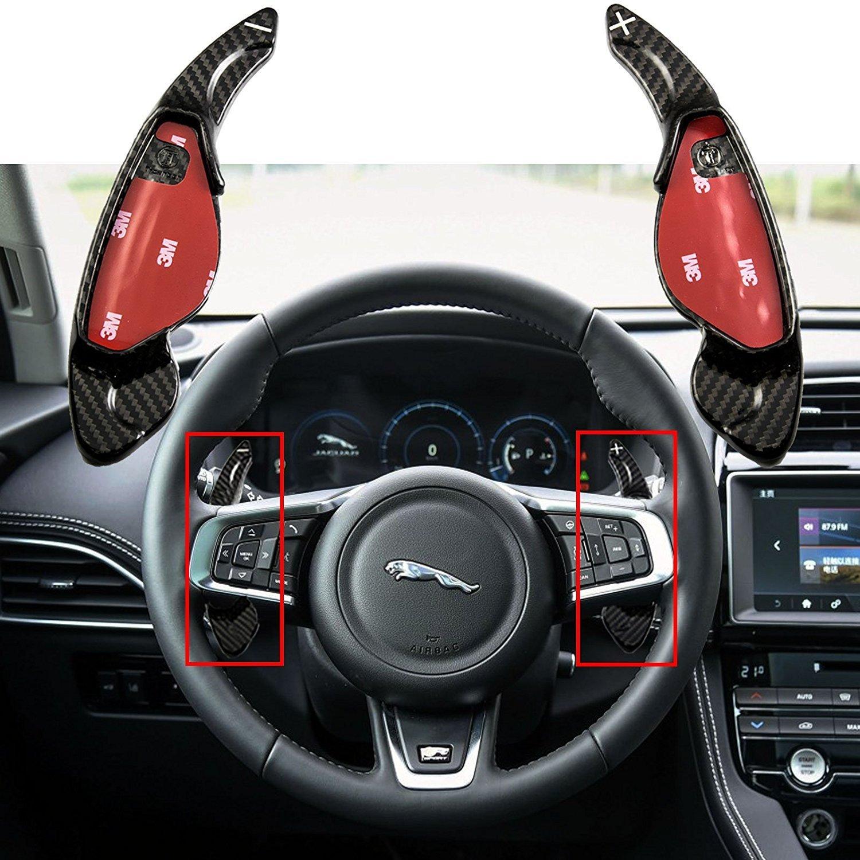 Xotic Tech 1 Set Real Carbon Fiber Steering Wheel Shifter Gear Paddle DSG Extensions for Jaguar XFL XJ XE XFL F-Type F-PACE