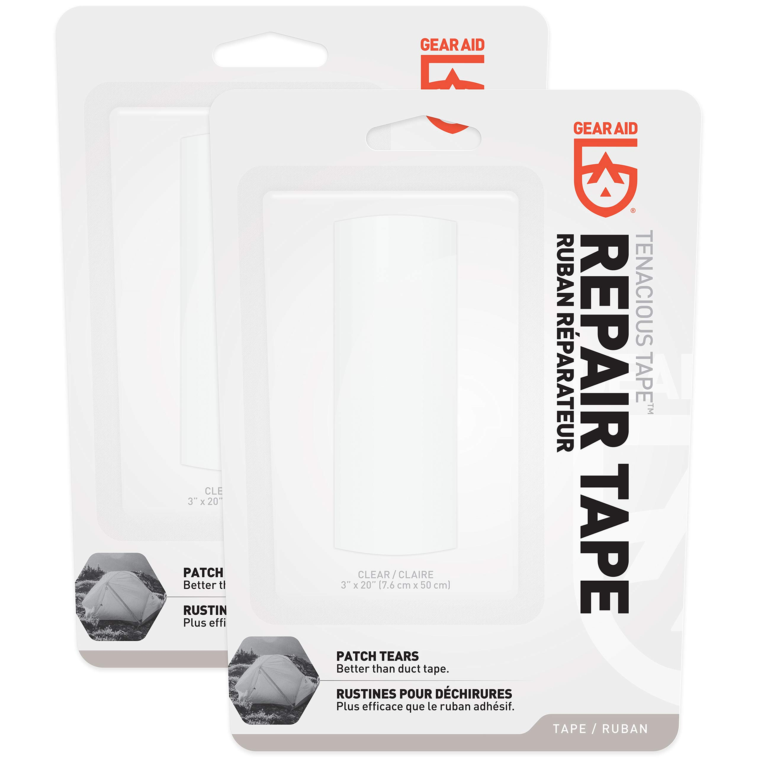 """Gear Aid Tenacious Tape Repair Tape for Fabric and Vinyl, 3"""" x 20""""(2 pack) by Gear Aid (Image #2)"""