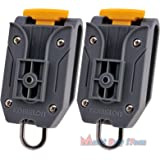 Lot of 2 Pcs Universal Komelon Measuring Tape Waist Belt Clip Holder with Tools Hanger Ring