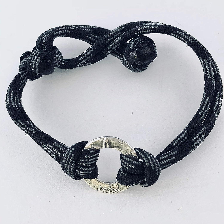 BlackGraySilver Beach Bracelets