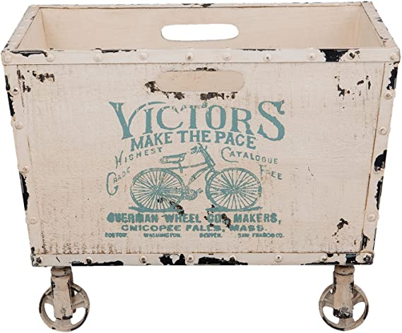 Caja de Madera con Ruedas (50 x 38 x 38 cm): Amazon.es: Hogar