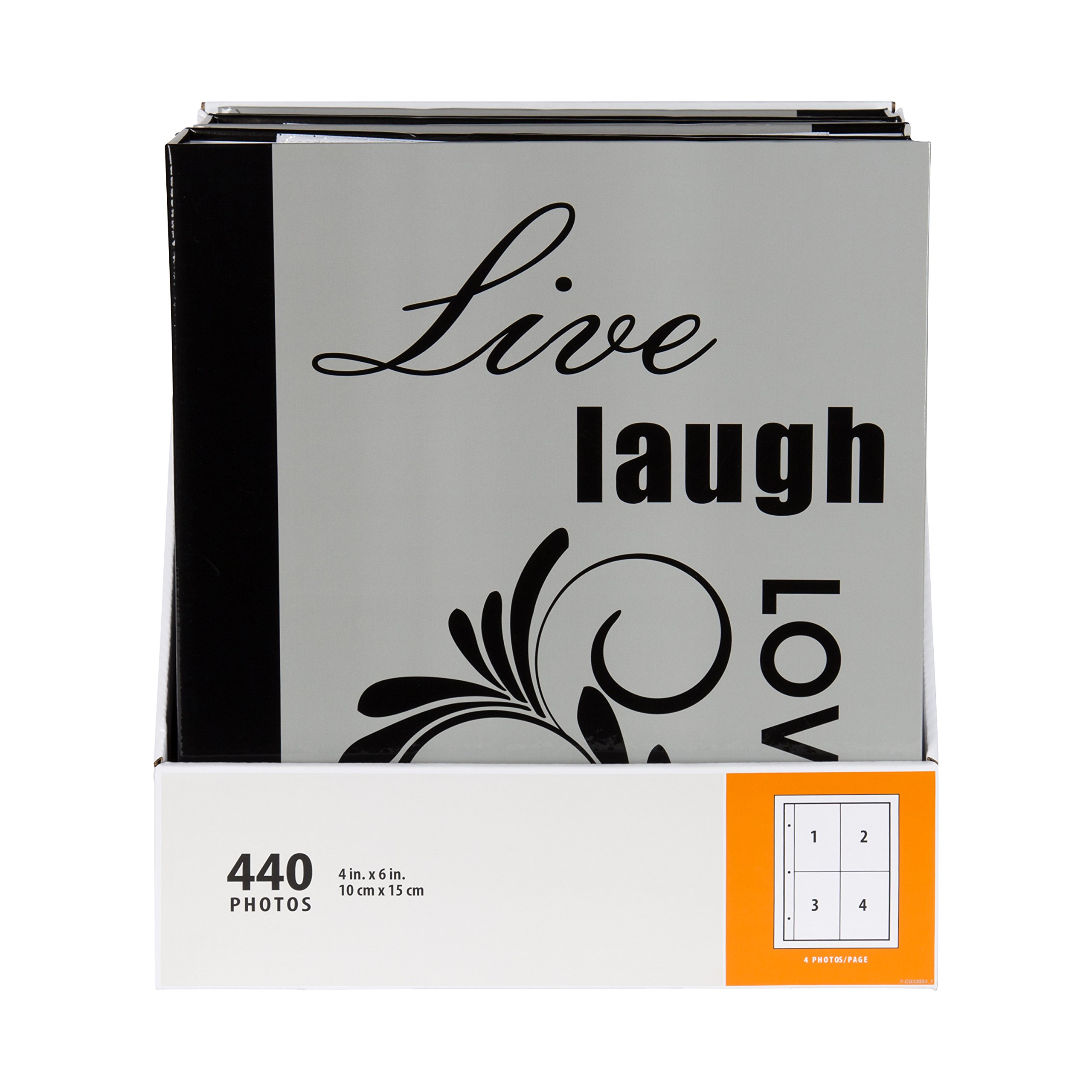 DesignOvation Live Laugh Love Expression Photo Album, Holds 440 4x6 Photos, Set of 4 by DesignOvation (Image #3)