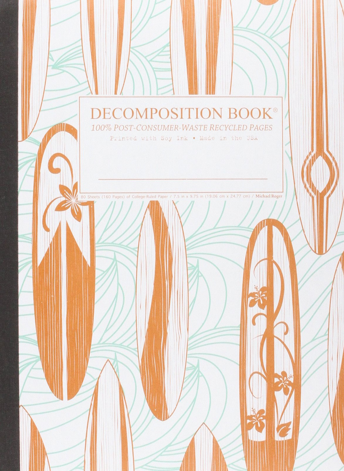 Read Online Classic Surfboards Decomposition Book: College-ruled Composition Notebook With 100% Post-consumer-waste Recycled Pages ebook