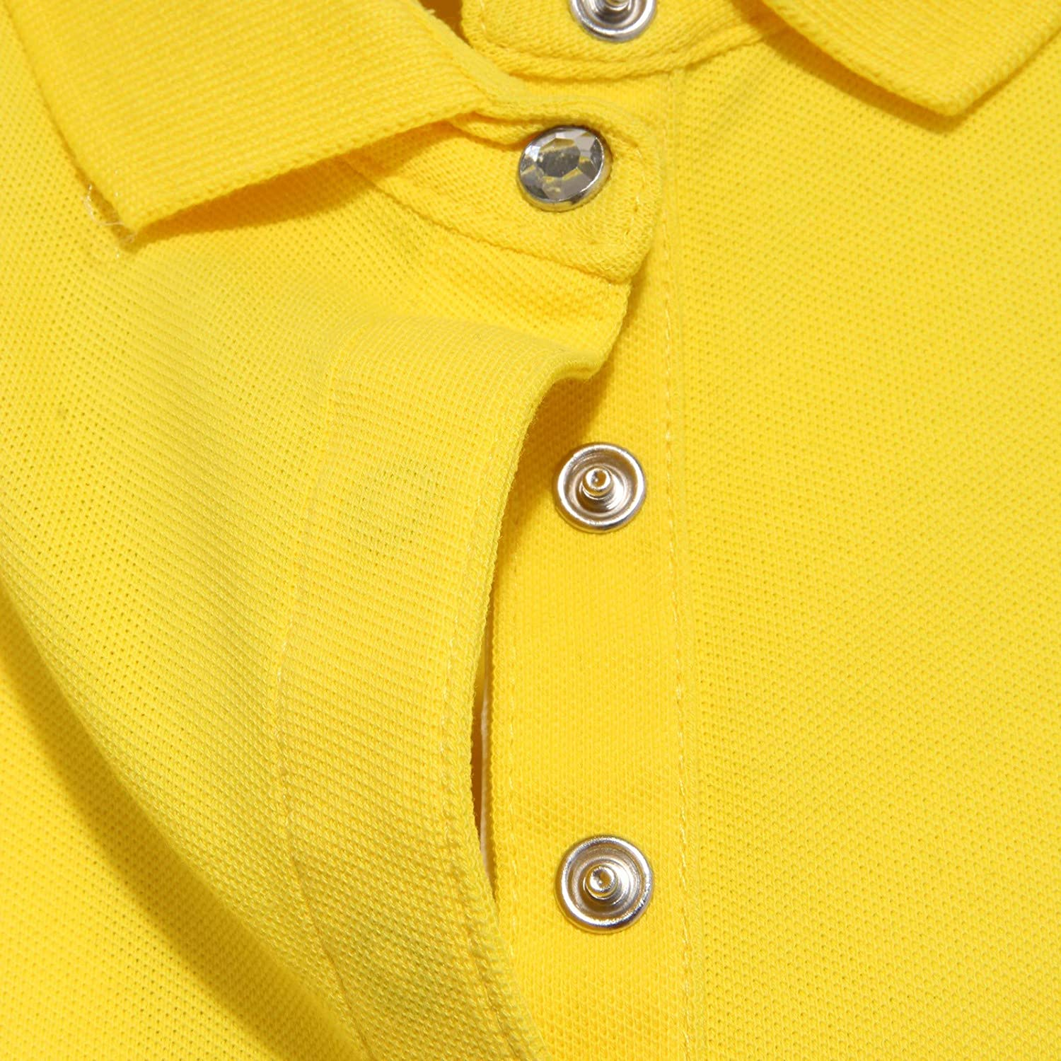 0520AB Polo Donna Sun 68 Maglia Yellow Polo t-Shirt Woman Giallo