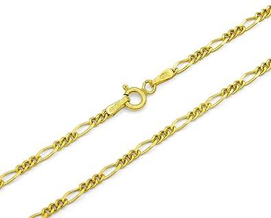 Kette Vergoldet Figarokette Für Herren 1-1 80 Cm Neu Herrenschmuck