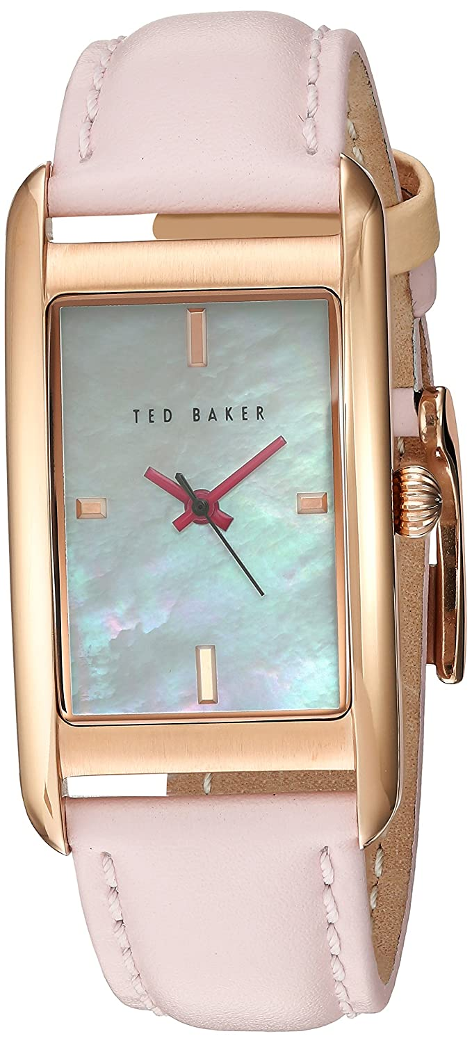 Ted Baker Womans Rose Gold Case White Dial TE10030751 -
