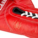 TITLE Classic Lace-Up Leather Training Gloves, Red, 14-Ounce