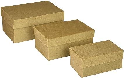 Darice – Plantilla para Grabar en Relieve Caja Paper-Mache rectángulo de cartón Set -