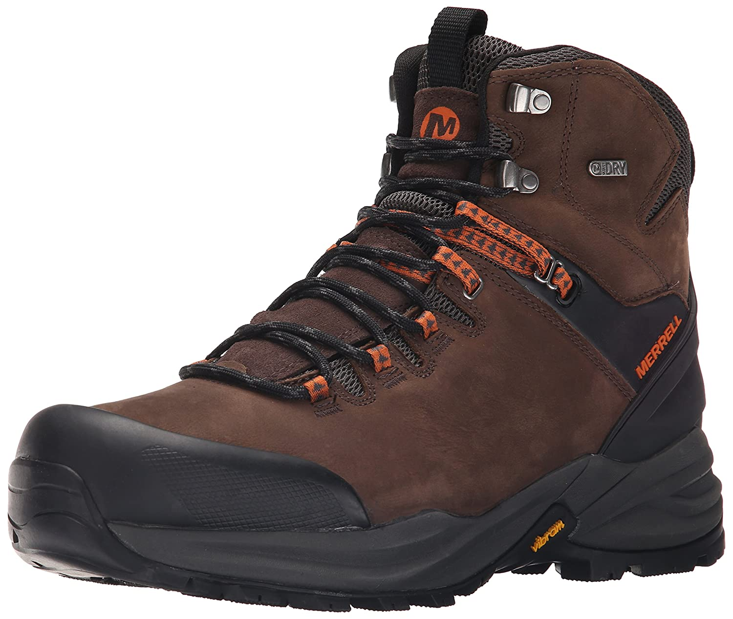 Merrell Phaserbound Waterproof Herren Trekking-  Wanderhalbschuhe  42 EU|Braun (Clay/Orange)