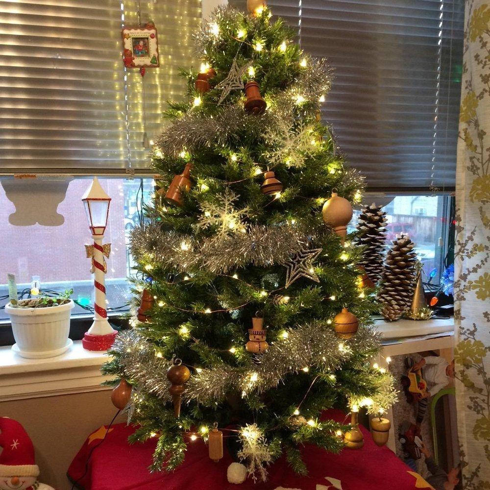 2 X 5M catena di luci LED luce micro filo catena Funzionamento a batteria e 2 programma per Party, giardino, Natale, Halloween, matrimonio, illuminazione decorativa xinban bianco caldo