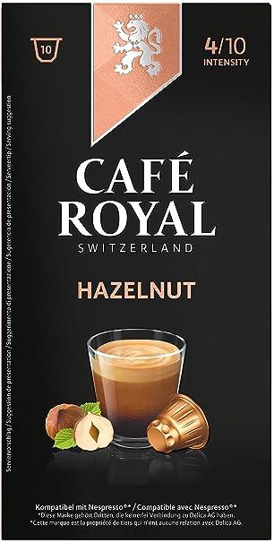 Café Royal Sabor Avellana, Café, Café Tostado, Cápsulas de Café, Nespresso Compatible