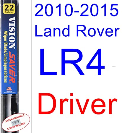 Amazon.com: 2010-2015 Land Rover LR4 Replacement Wiper Blade Set/Kit (Set of 3 Blades) (Saver Automotive Products-Vision Saver) (2011,2012,2013,2014): ...