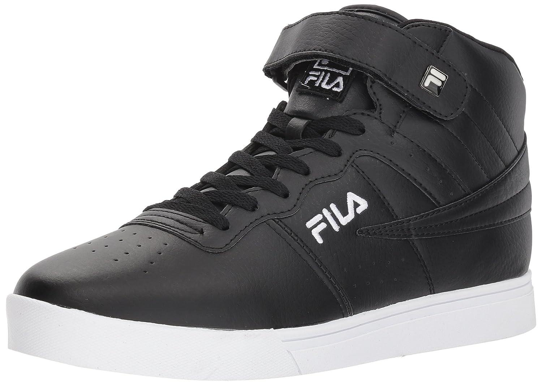 Fila Men's Vulc 13 Mid Plus 2 Walking Shoe 8.5 D(M) US|Black/Black/White